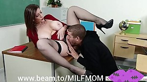 Bad MILF Teacher wants to punish a BAD boy