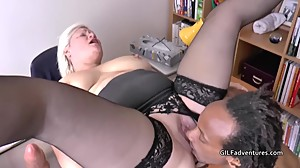 Old nurse fucks a younger thin big..