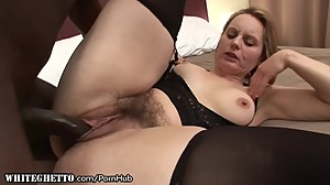 Curvy Matures Hairy Puss Stuffed with..
