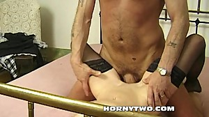 Slim mature bitch randy for big cock to..