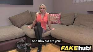 Fake Agent UK Cute horny MILF with..