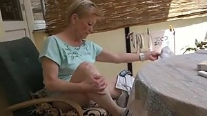 Mature wife pamties aside play.mp4
