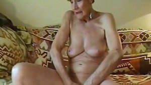 Olga Is 74 And Loves To Finger Her Bald..