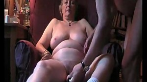 Check my granny MILF playing with her..