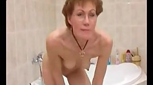 Horny German  Granny Shaves It Off