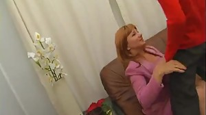 Mature Lady Gives Younger Man Oral Fun..