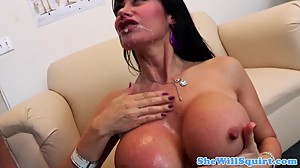 Busty mature squirter fingered by her..