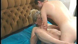 Chubby old blonde fucking wild
