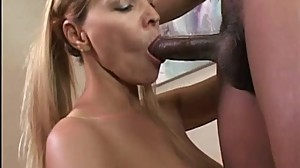 Mature secretary fucks a black guy for..