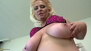 Slutty mom with big saggy tits and very..