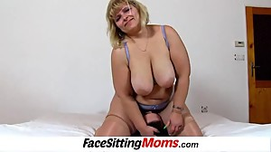 Big tits bbw mom Anna pussy licking from..