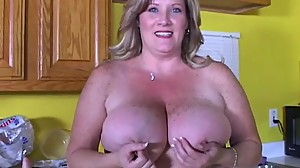 Beautiful big tits old spunker loves to..
