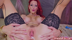 Kinky Milf Shanda Fay Covered in Gold..
