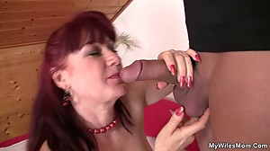 Girlfriends mother uses dildo then rides..