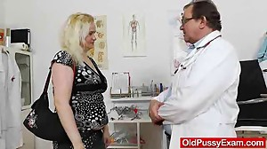 The gynecologist drops into action with..