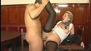 Horny mature MILF likes young cock