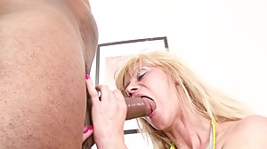 BLACK COCK SLAMS OLD MATURE PUSSY