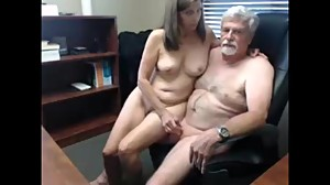 Mature guy tries to fuck his secretary