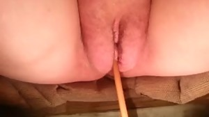 pussy with a catheter, can't piss
