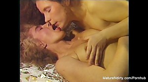 Sexy older lesbians get down and dirty..