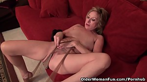 Sexy milf Sally Steel shares her..
