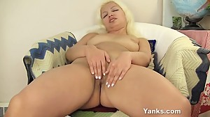Blonde Girl From Yanks Barbie Masturbates