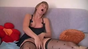 Homemade masturbation German mom Inge