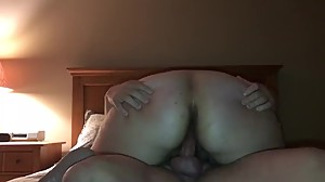Chubby wife riding