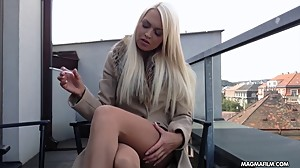 MAGMA FILM Busty blonde German babe rubs..