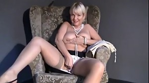 Mature Mom upskirt, flashing, fingering..