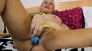 Old Busty BBW Slut Samantha 38G Drills..