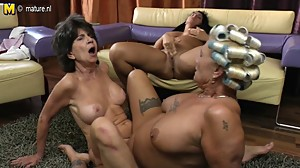 Old lesbian grannies eating pussy of..